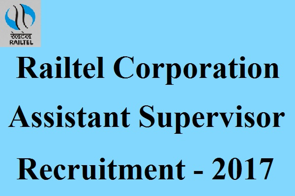 Railtel Recruitment 2017