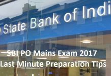 SBI PO Mains Exam 2017