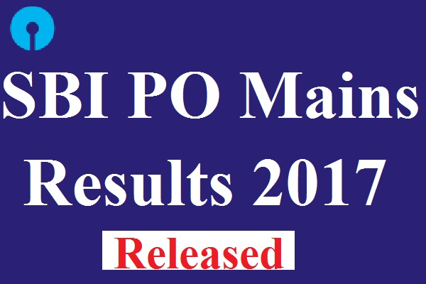 SBI PO Mains Results 2017