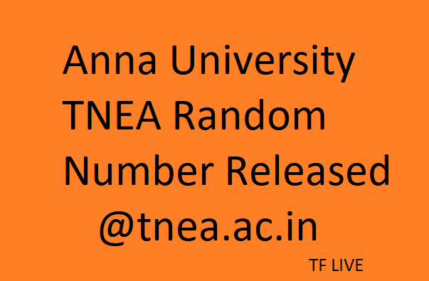 Random Number Issued Today; BE Admission Anna University Counselling Dates