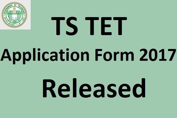TS TET Application Form 2017