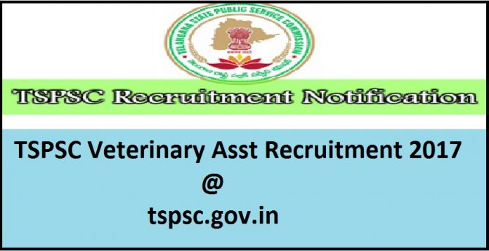 TSPSC Veterinary Assistant Recruitment