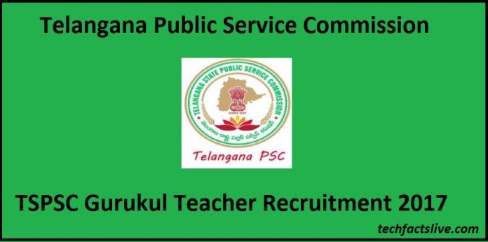 TSPSC Gurukul Teacher Recruitment