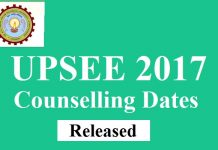 UPSEE 2017 Counselling Dates