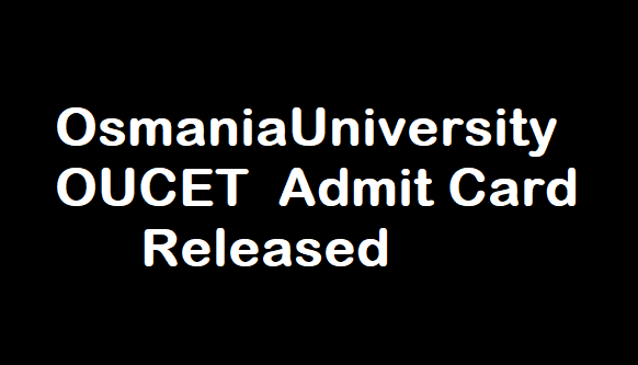 OUCET Admit Card 2017
