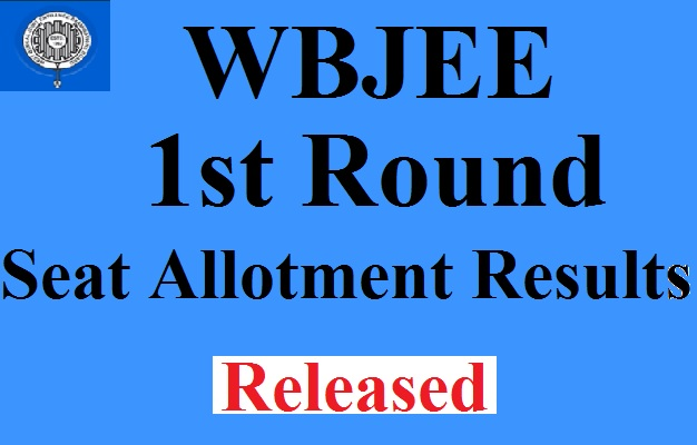 WBJEE 1st Round Seat Allotment Results 2017