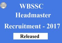 WBSSC Recruitment 2017