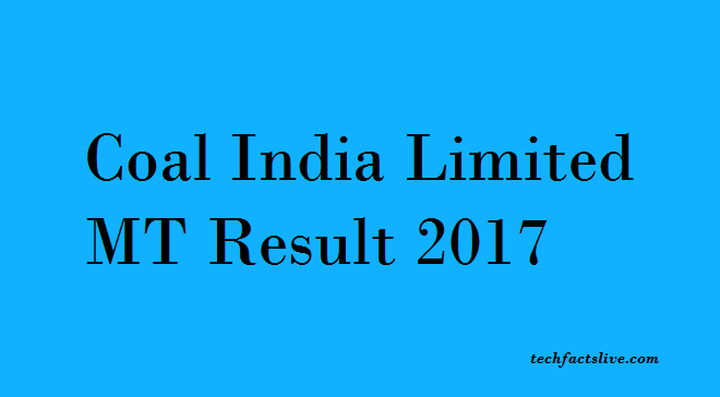 Coal India MT Result 2017