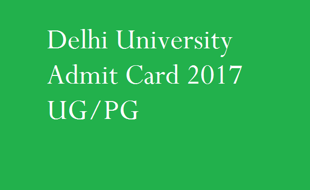 Delhi University Admit Card