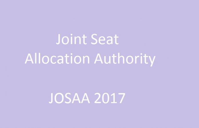 JoSAA 2017 Registration