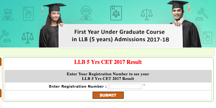 llb 5 years cet results