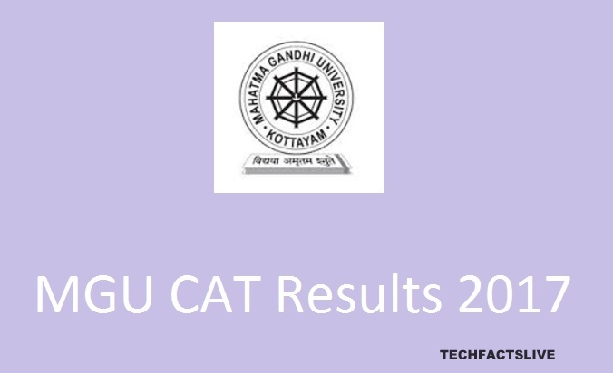 MGU CAT Results 2017