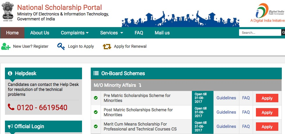 minority welfare post matric scholarship systemrenewalstudent Scheme details the prime minister's new 15 point programme for the welfare of minorities was announced in june, 2006 it provides that a post-matric scholarship.