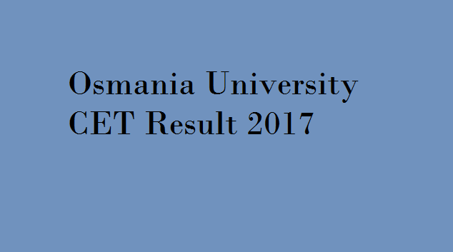OUCET 2017 Result
