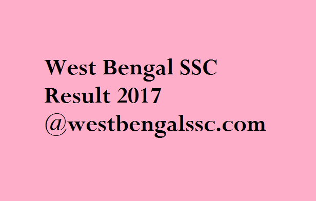 West Bengal SSC Result 2017