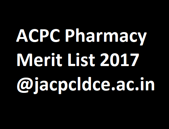 ACPC Pharmacy merit list