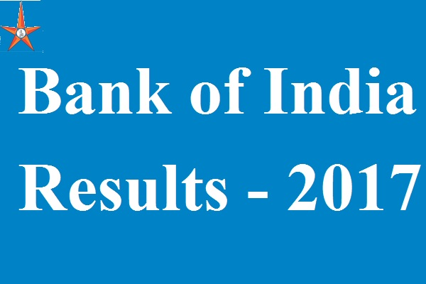 Bank of India Results 2017