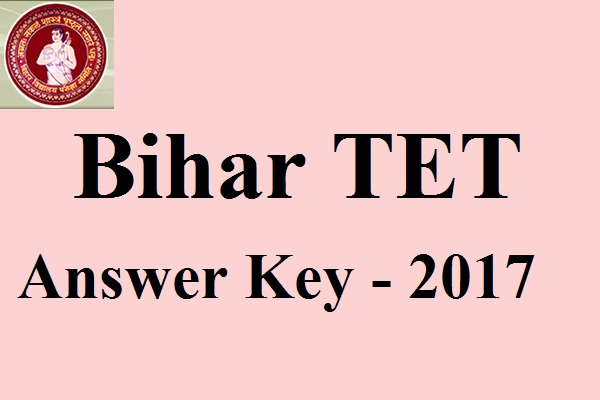 Bihar TET Answer Key 2017