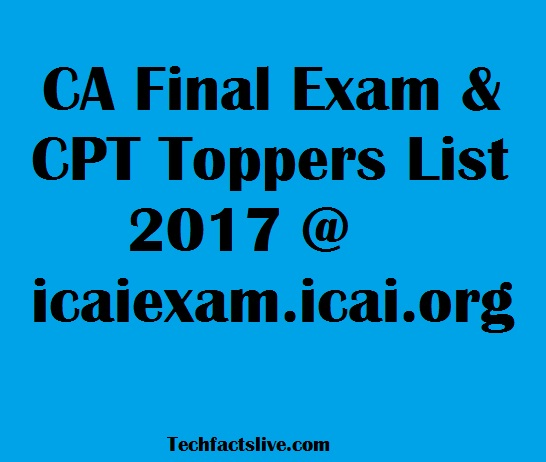 CA Toppers List