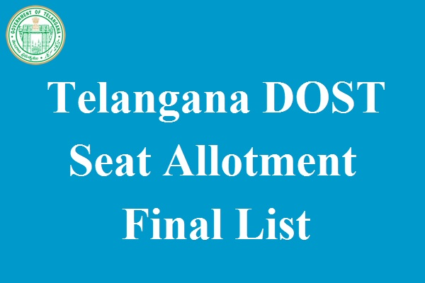 TS DOST Seat Allotment