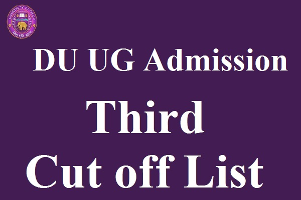 DU UG Admission 3rd Cut off List 2017