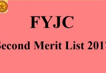 FYJC Second Merit List 2017