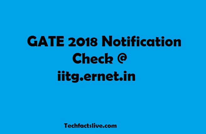 GATE 2018 Notification