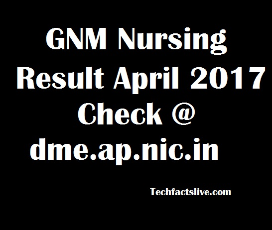 GNM Nursing Result 2017