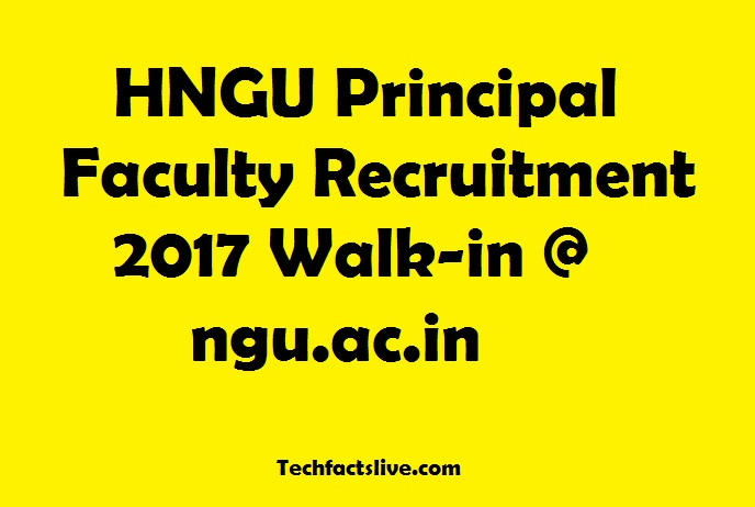HNGU Recruitment 2017