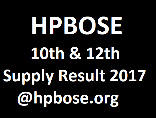 HPBOSE 10th & 12th Supply Results