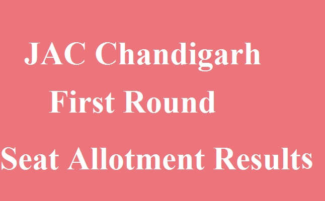 JAC Chandigarh First Round Seat