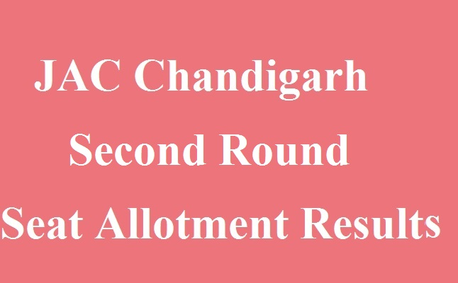 JAC Chandigarh 2nd Round Seat Allotment Results 2017