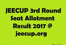 JEECUP Third Seat Allotment Result