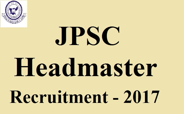 JPSC Headmaster Recruitment