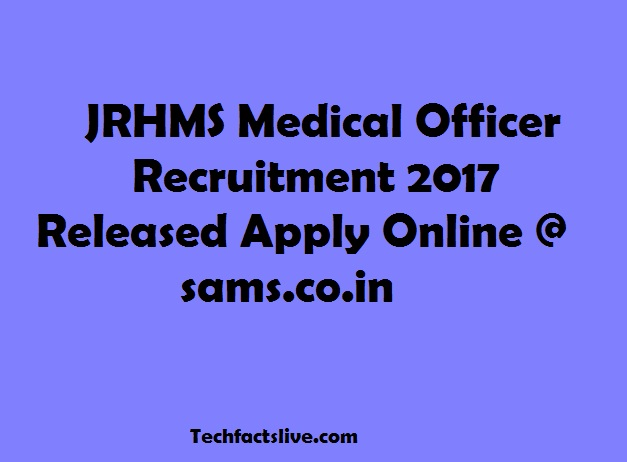 JRHMS Recruitment 2017