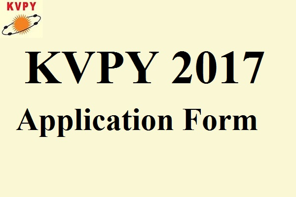 KVPY 2017 Application Form