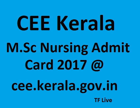 Nursing Admit Card