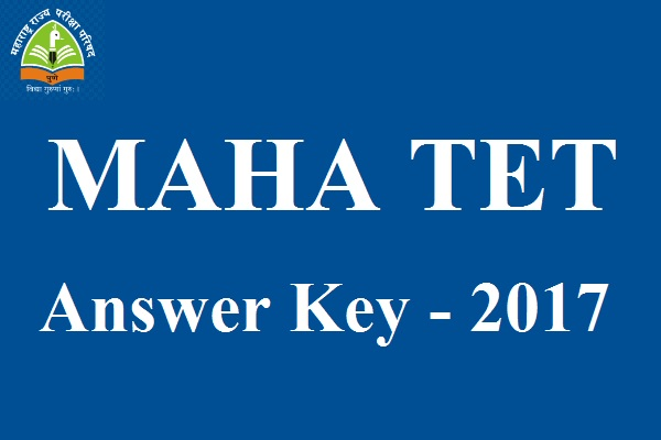 MAHA TET Answer Key 2017