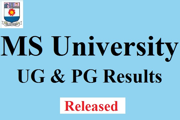 MS University UG PG Results 2017
