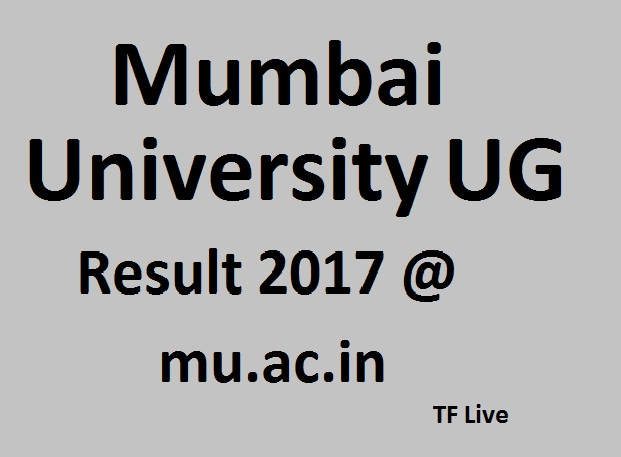 Mumbai University UG Result 2017