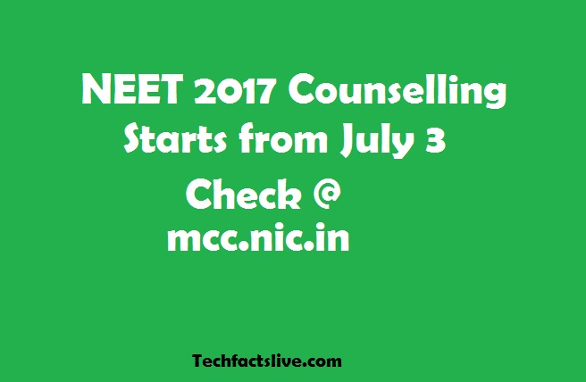 NEET 2017 counselling begins today, fill your choices at mcc
