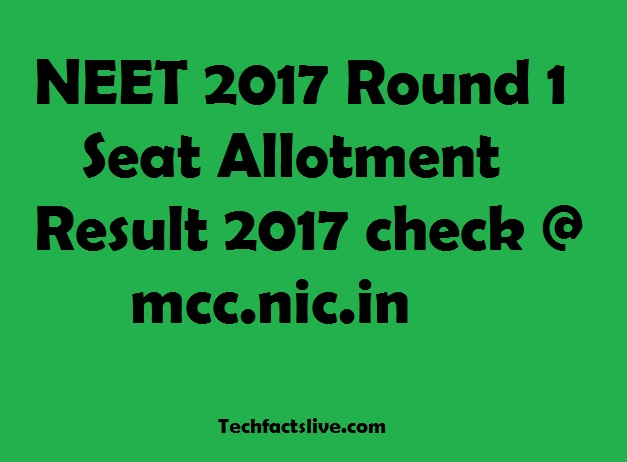 NEET Seat Allotment List Declared Check @ mcc.nic.in UG ...