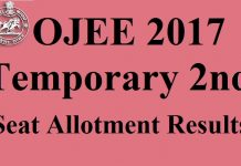 OJEE 2017 2nd Seat Allotment