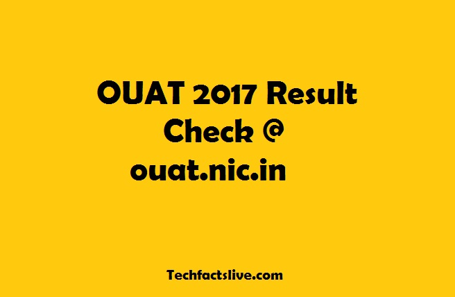 OUAT 2017 Result