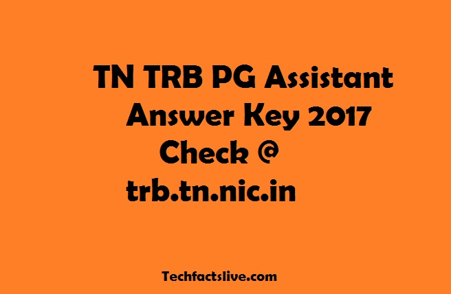 TN TRB PG Assistant Answer Key 2017