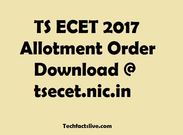 TS ECET Seat Allotment 2017
