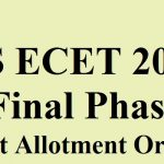 TS ECET Final Phase Seat Allotment Order