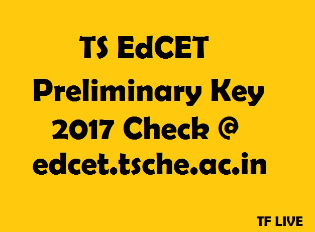TS EdCET 2017 Answer Key
