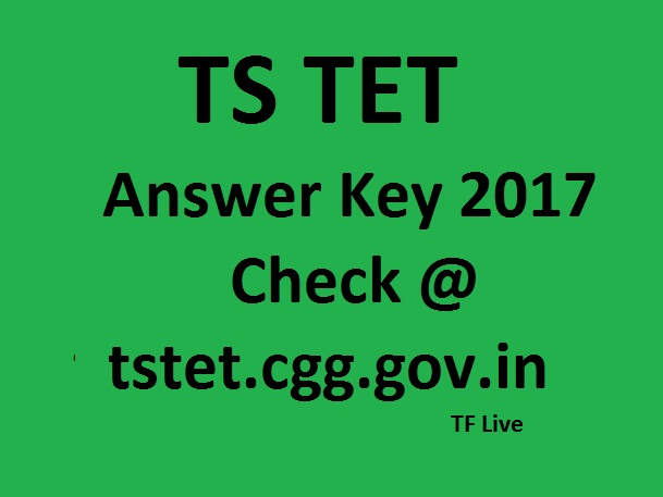 TS TET 2017 Answer Key