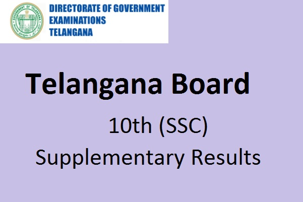 Telangana SSC Advanced Supply Result
